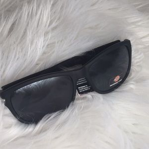 Soft touch black wayfarer sunglasses